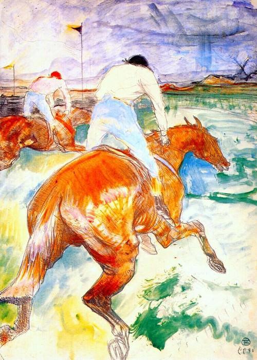 lautrec the jockey 1899. Henri De Toulouse-Lautrec