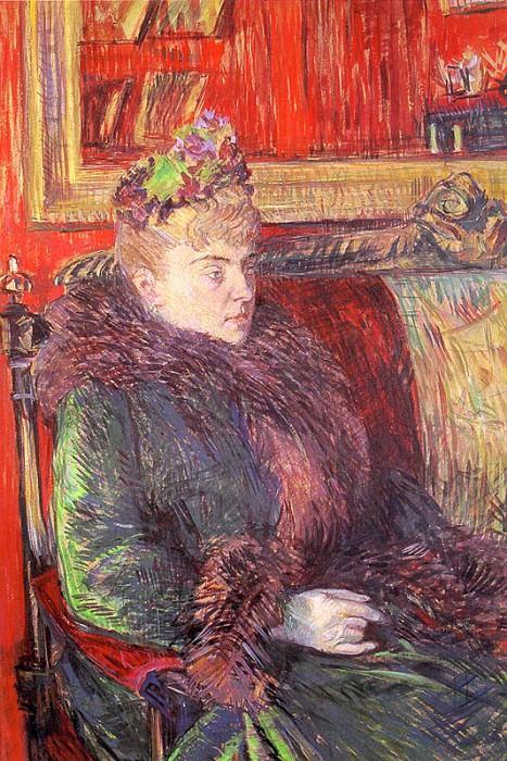 Portrait of Madame de Gortzikoff, 1893, oil. Henri De Toulouse-Lautrec