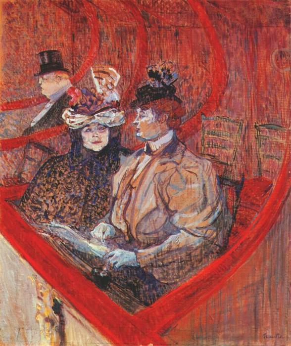 lautrec a box at the theater 1896-7. Henri De Toulouse-Lautrec