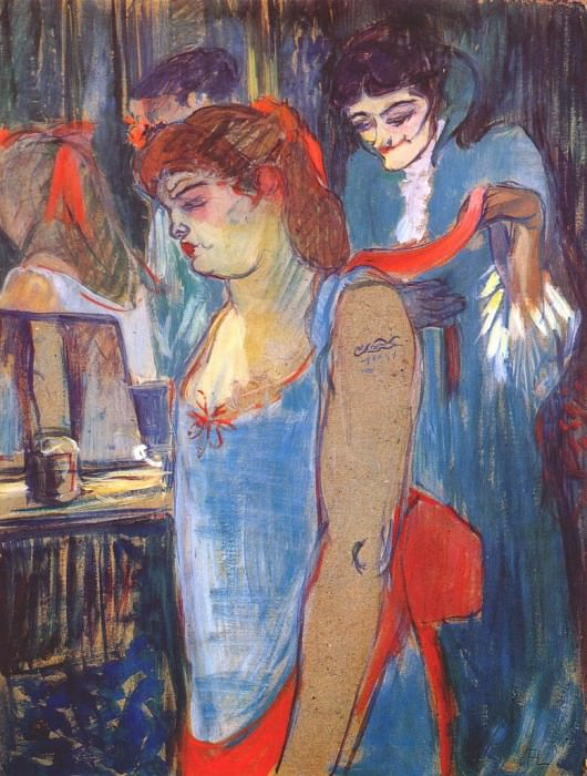lautrec the tattooed woman 1894. Henri De Toulouse-Lautrec