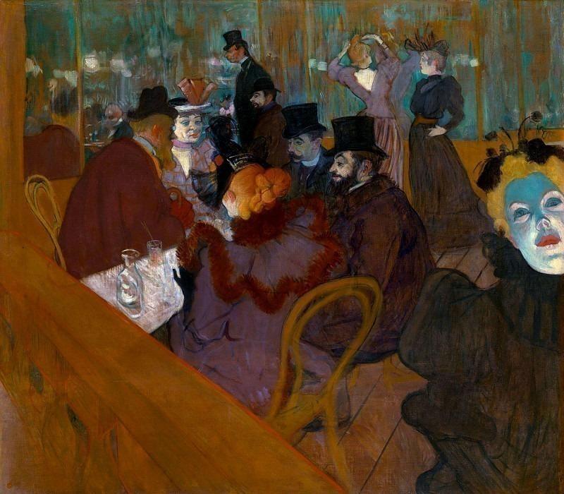 lautrec at the moulin rouge 1892. Анри де Тулуз-Лотрек