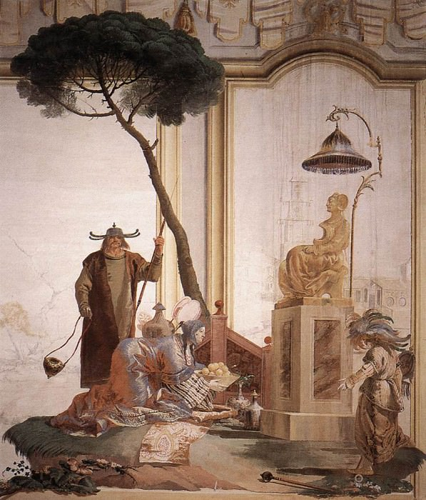 TIEPOLO Giovanni Domenico Offering Of Fruits To Moon Goddess. Giovanni Domenico Tiepolo