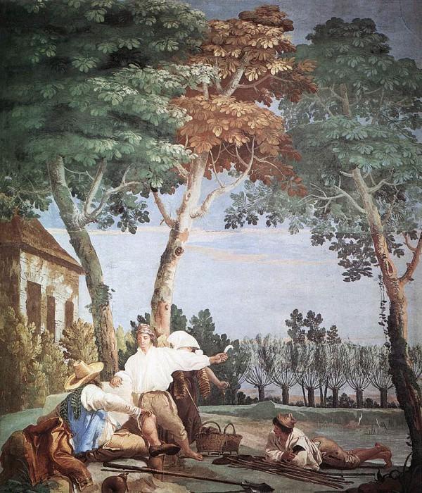 TIEPOLO Giovanni Domenico Peasants At Rest. Джованни Доменико Тьеполо