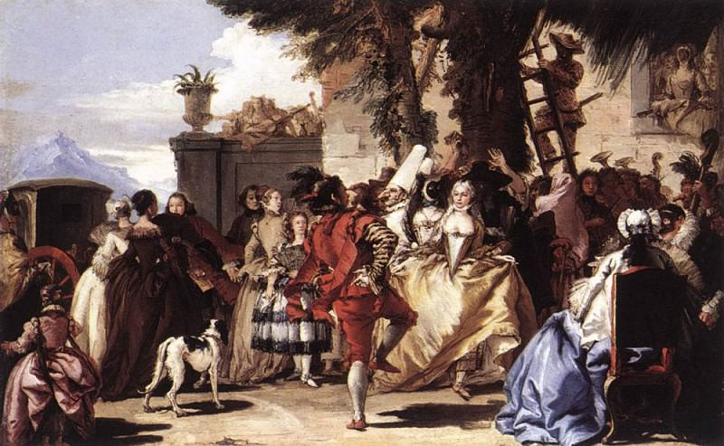 TIEPOLO Giovanni Domenico Ball In The Country. Giovanni Domenico Tiepolo