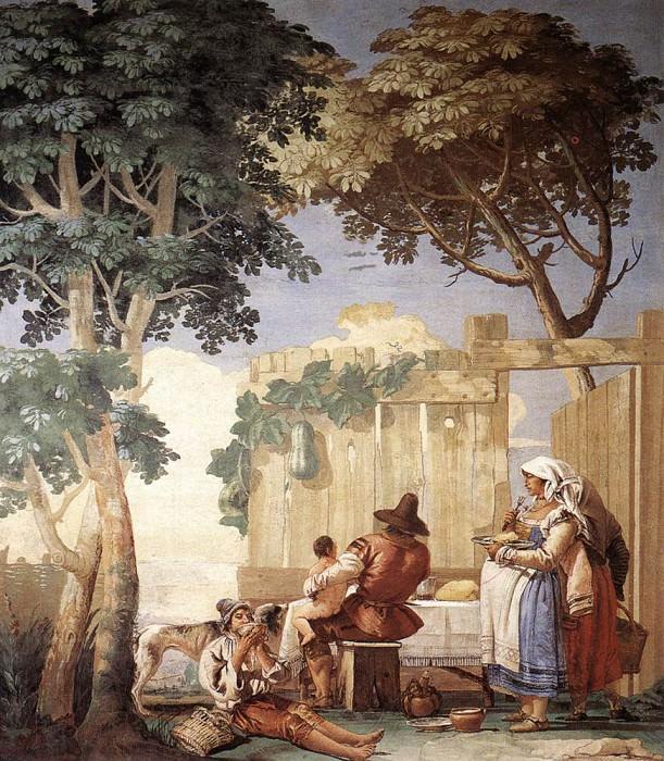 TIEPOLO Giovanni Domenico Family Meal. Giovanni Domenico Tiepolo