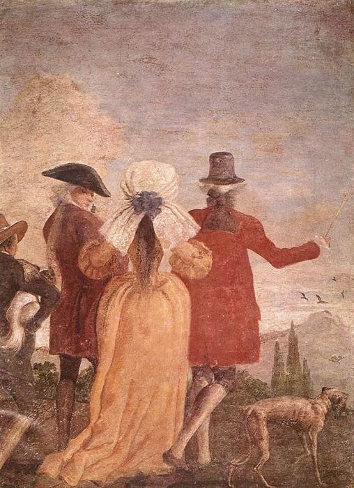 TIEPOLO Giovanni Domenico The Promenade. Giovanni Domenico Tiepolo