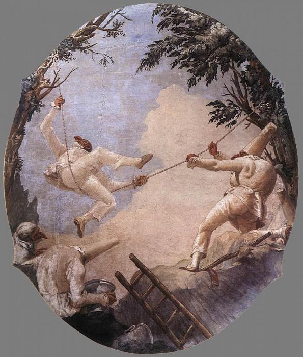 TIEPOLO Giovanni Domenico The Swing Of Pulcinella. Giovanni Domenico Tiepolo