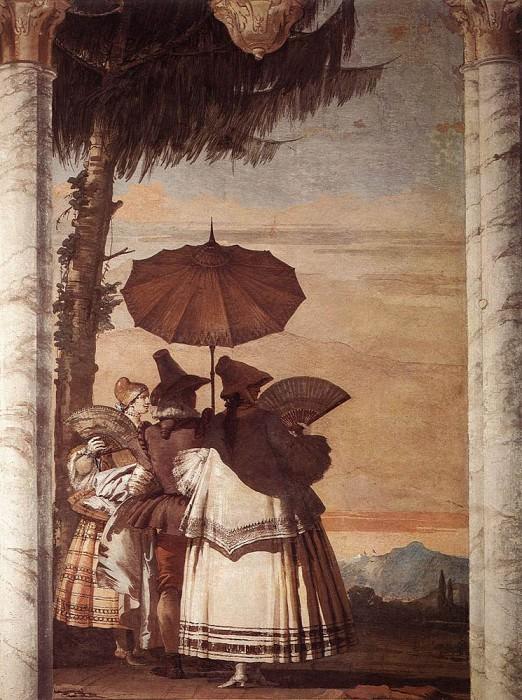 TIEPOLO Giovanni Domenico Summer Stroll. Джованни Доменико Тьеполо