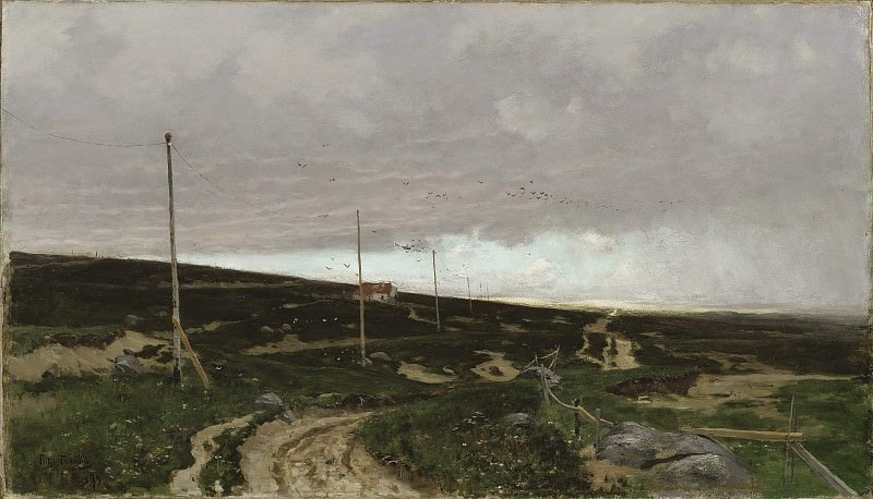 On the coast. Motif from Jaeren, Norway. Frits Thaulow