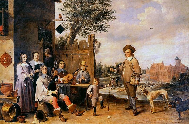 Teniers David Landscape with a family Sun. David II Teniers