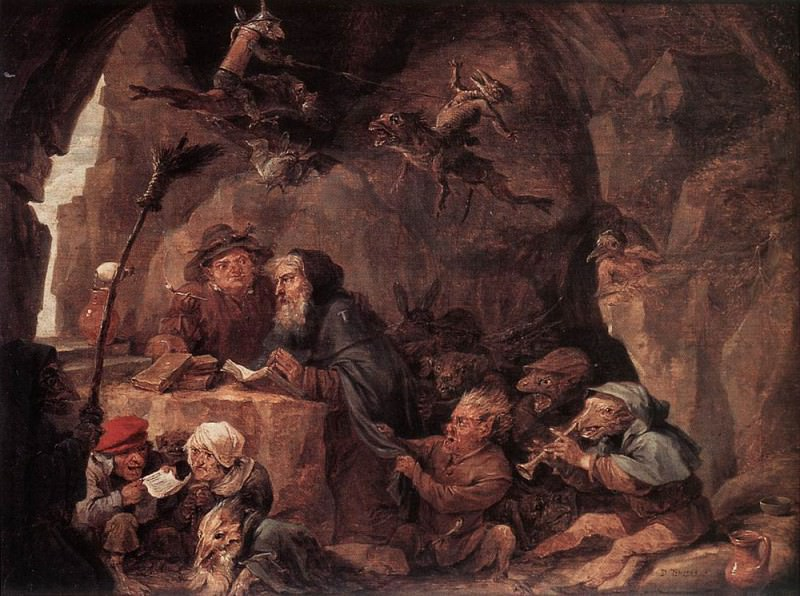 TENIERS David the Younger Temptation Of St Anthony. David II Teniers