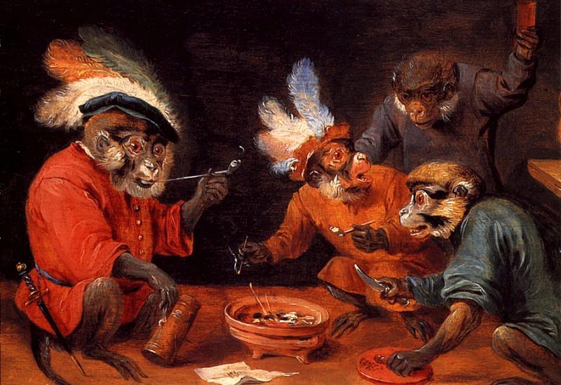 lrs Teniers David the Younger Monkey Tavern. David II Teniers