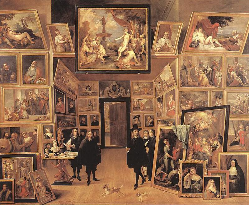 TENIERS David the Younger Archduke Leopold Wilhelm In His Gallery 1647. David II Teniers
