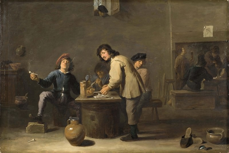 Tavern Scene with Pipe-smokers. David II Teniers (Manner of)