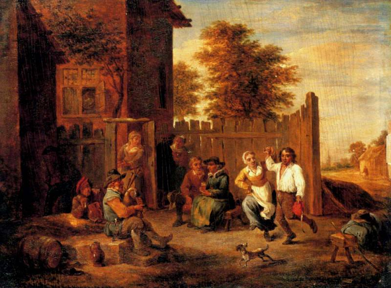 Teniers David Peasants Merrymaking Outside An Inn. David II Teniers