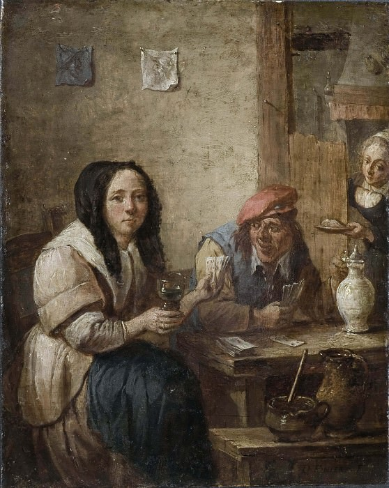 The Card Game. David II Teniers (Manner of)