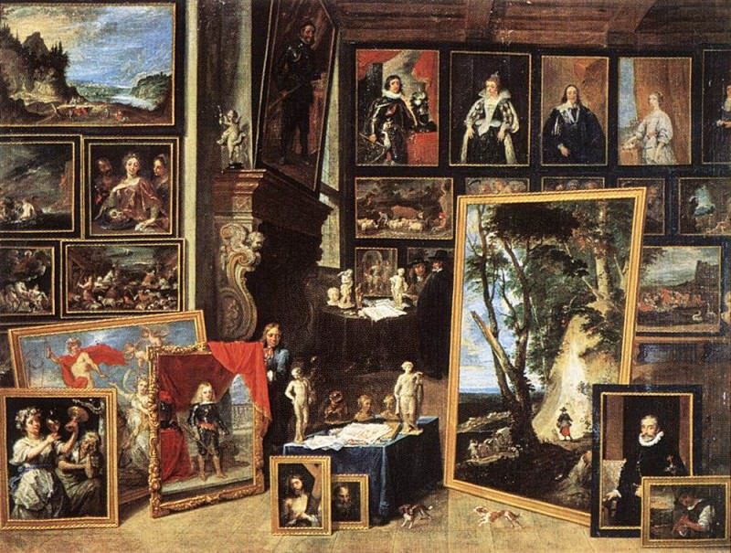 TENIERS David the Younger The Gallery Of Archduke Leopold In Brussels 1641. David II Teniers