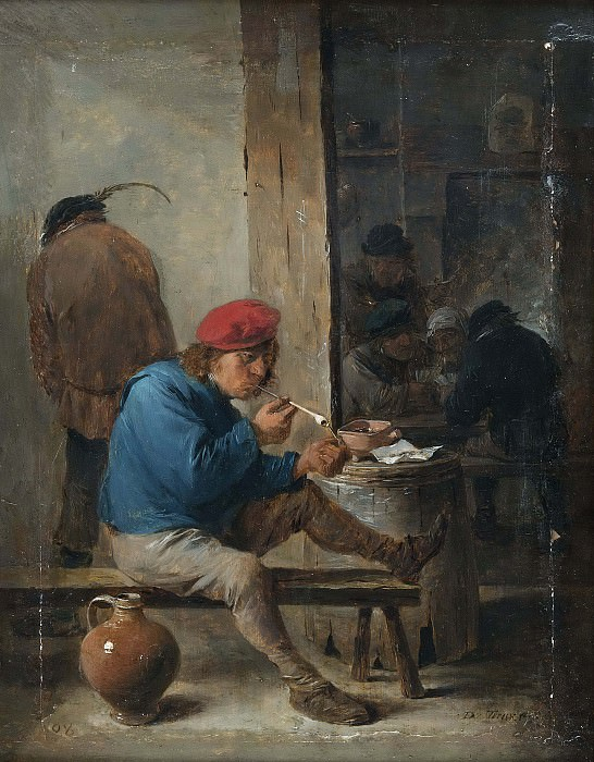 Tavern Scene with Smokers. David II Teniers
