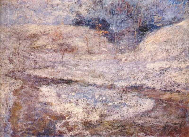 twachtman the brook, greenwich, connecticut c1890-1900. John Henry Twachtmann
