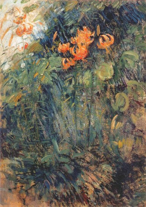 twachtman tiger lilies c1890-95. John Henry Twachtmann