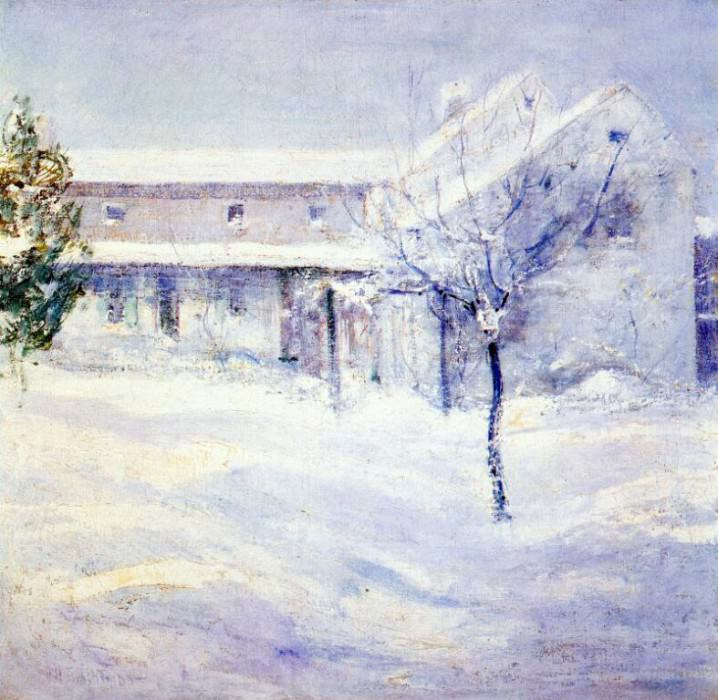twachtman old holley house (cos cob) c1901. John Henry Twachtmann
