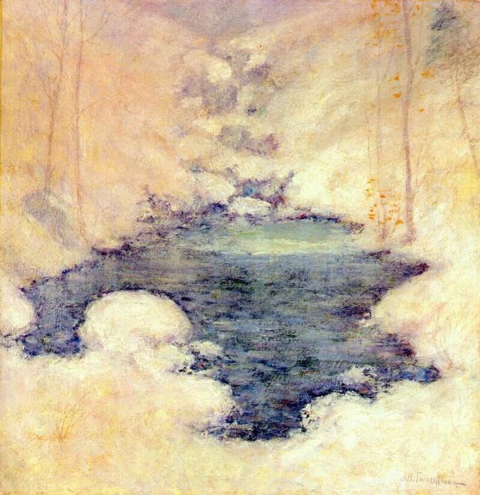 twachtman winter silence c1890-1900. John Henry Twachtmann