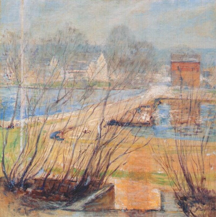 twachtman from the holley house (cos cobb) c1901. John Henry Twachtmann