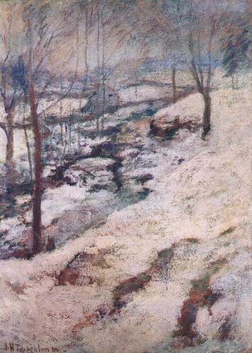 twachtman frozen brook c1893. Джон Генри Твахтман