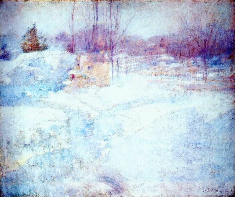 twachtman winter c1890. John Henry Twachtmann
