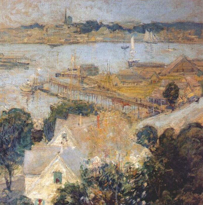 twachtman gloucester harbor c1901. John Henry Twachtmann