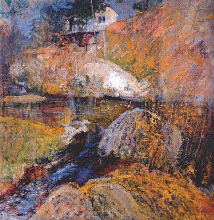 twachtman my summer studio c1900. John Henry Twachtmann