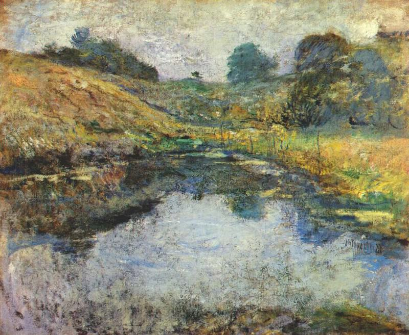 twachtman spring morning c1890-1900. Джон Генри Твахтман