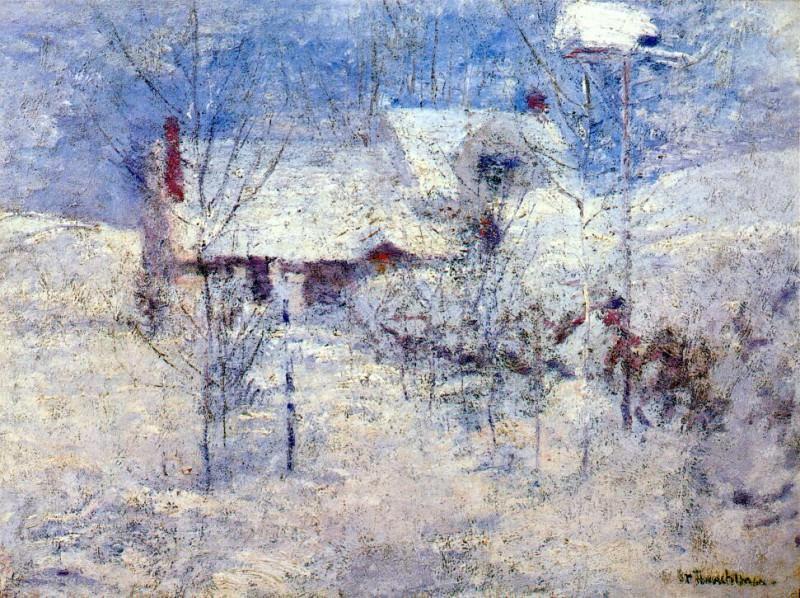 twachtman snowbound c1890s. John Henry Twachtmann