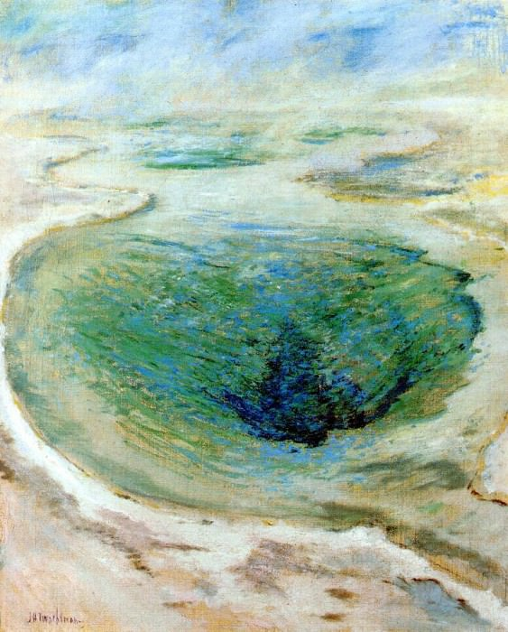 twachtman morning glory pool (yellowstone) c1895. John Henry Twachtmann