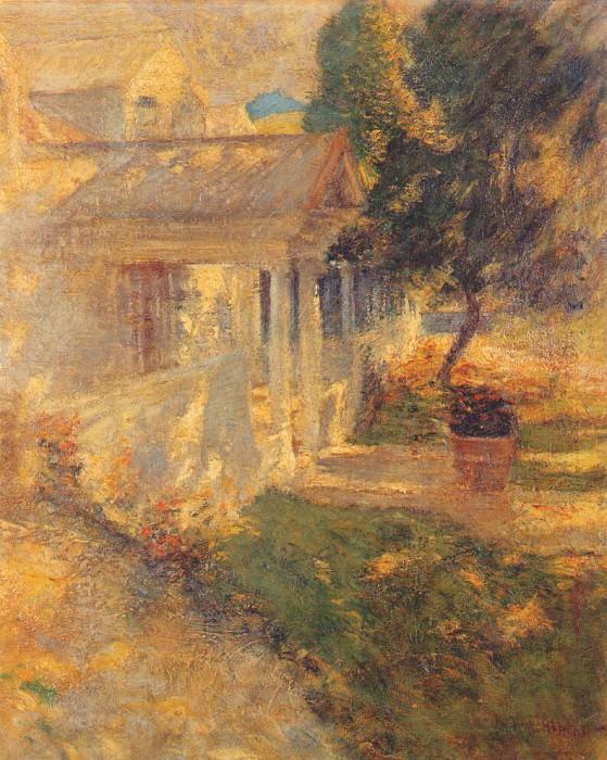 twachtman my house c1895-1900. Джон Генри Твахтман