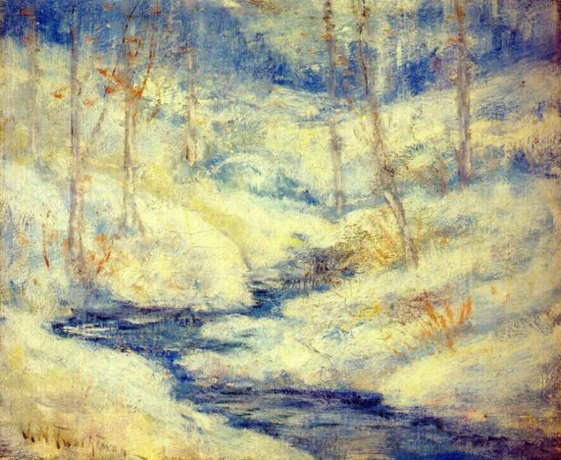 twachtman snow scene. Джон Генри Твахтман
