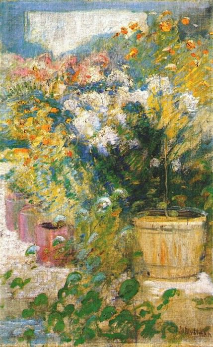 twachtman in the greenhouse c1890-1902. John Henry Twachtmann