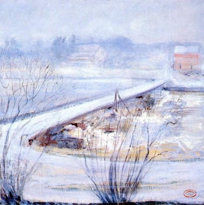 twachtman winter c1898. John Henry Twachtmann