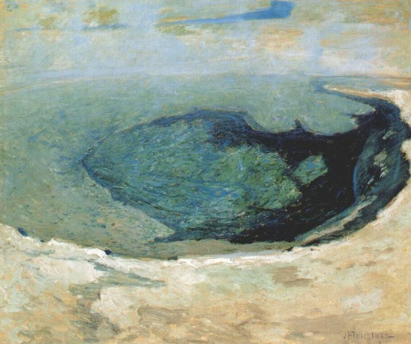 twachtman emerald pool (yellowstone) ii c1895. Джон Генри Твахтман