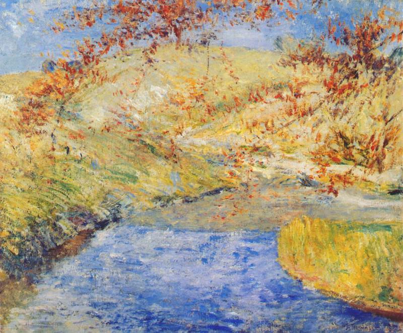 twachtman the winding brook c1887-1900. John Henry Twachtmann