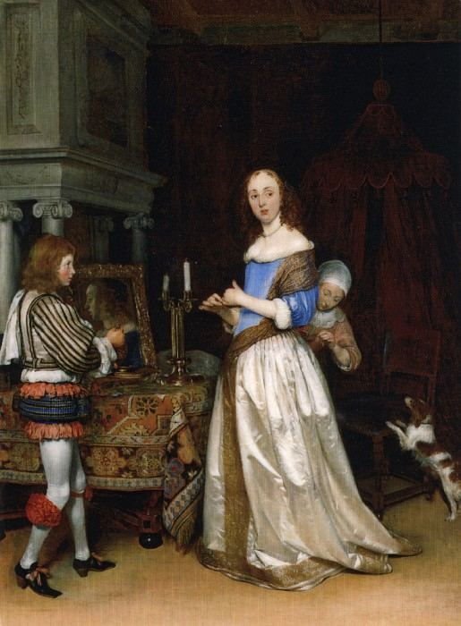 A Lady at Her Toilet ca1660 oiloncanvas. Gerard Terborch