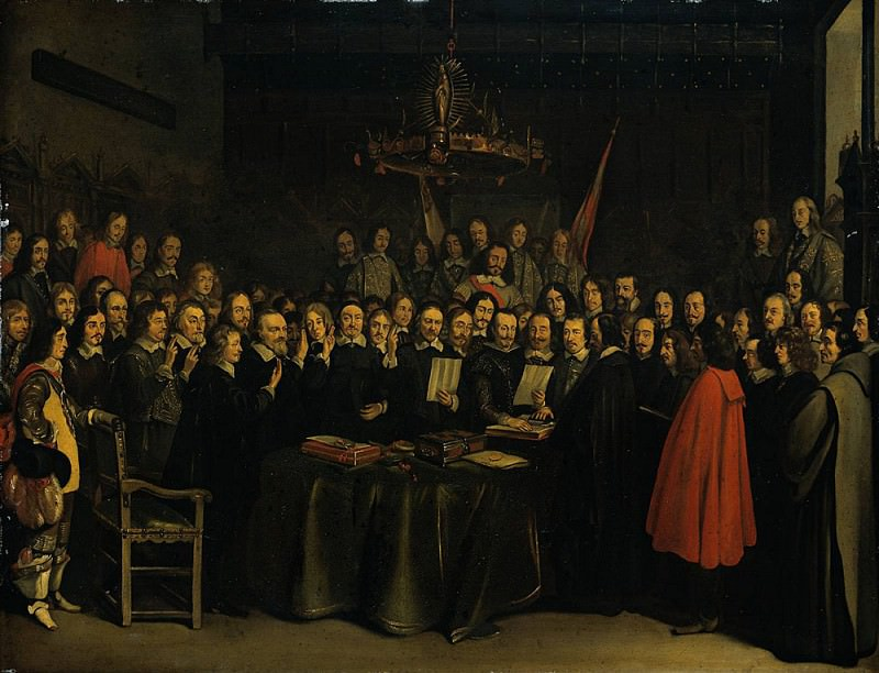 The Ratification of the Treaty of Munster 15 May 1648. Gerard Terborch