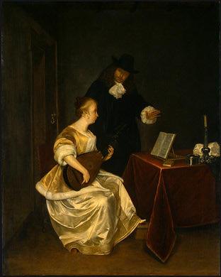 Урок музыки, ок. 1670. Герард Терборх
