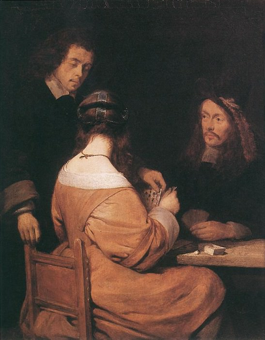 Card players. Gerard Terborch