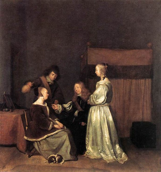 The Visit. Gerard Terborch
