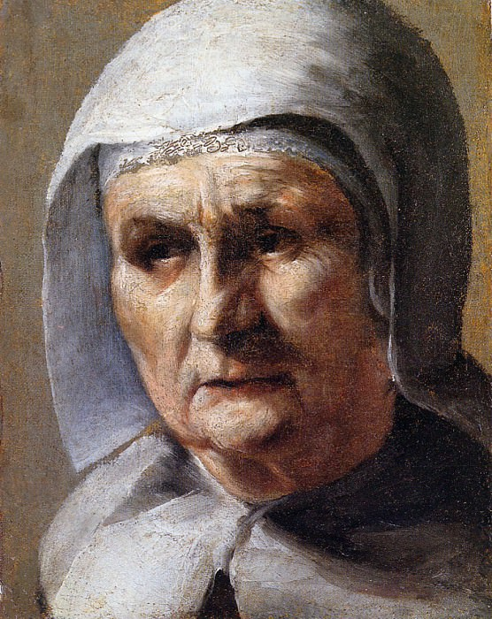 Borch ter Mozes An old woman Sun. Gerard Terborch