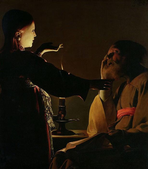 Явление ангела святому Иосифу. Жорж де Латур