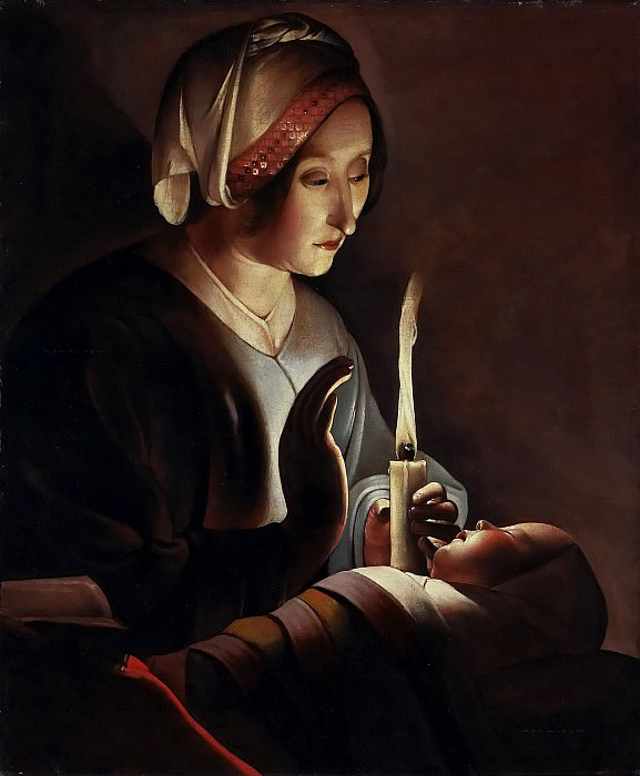 Святая Анна с Младенцем Христом. Жорж де Латур