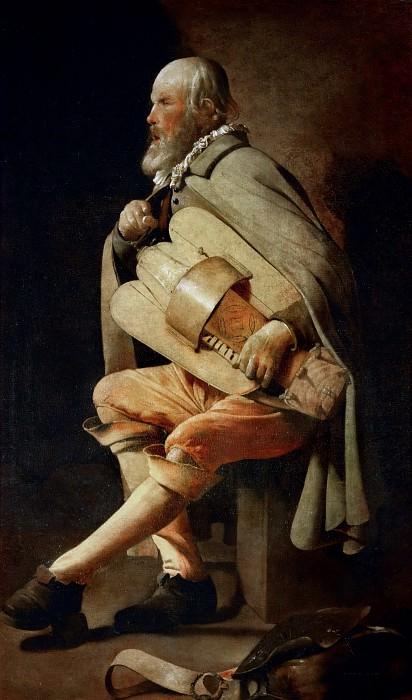 Лирник с сумкой. Жорж де Латур