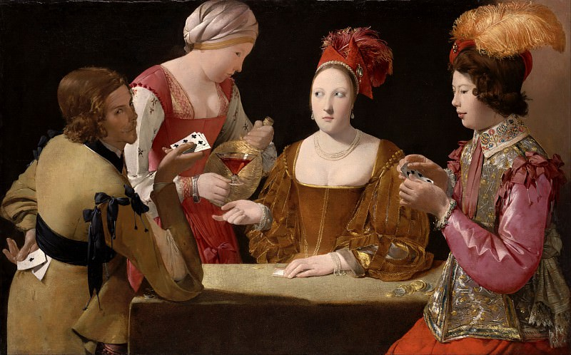 The Cheat with the Ace of Clubs. Georges de La Tour